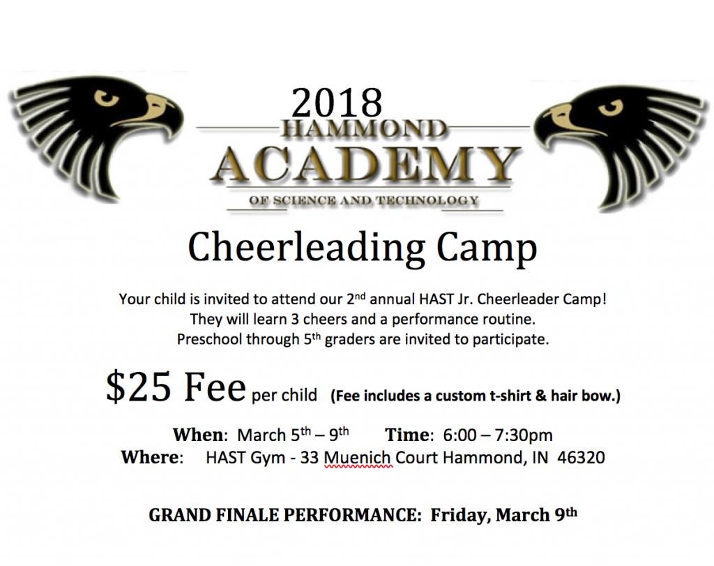 Cheerleading camp Flyer